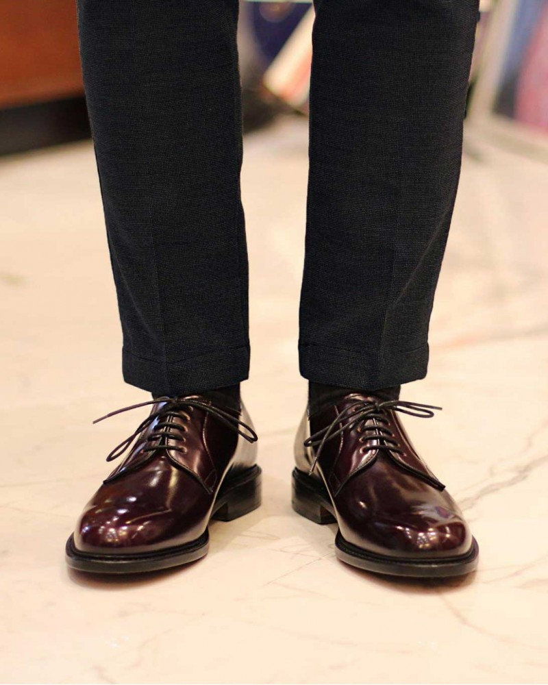 Berwick1707|3680 Plain Toe Derby・Burgundy