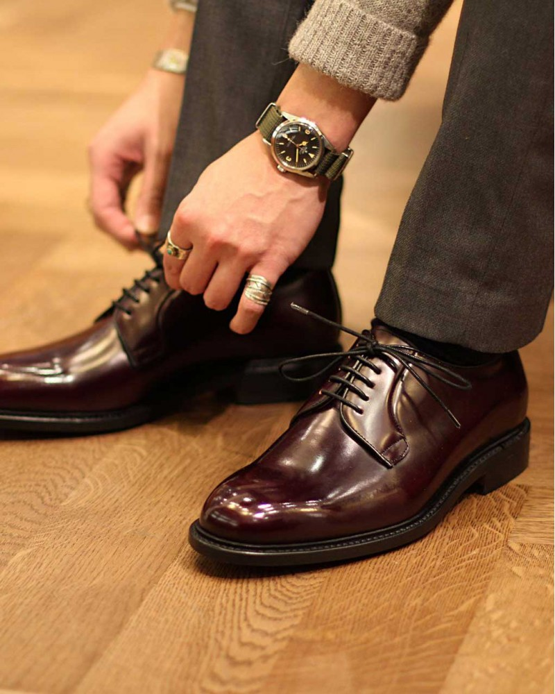 Berwick1707 | 3680 Plain Toe Derby · Burgundy