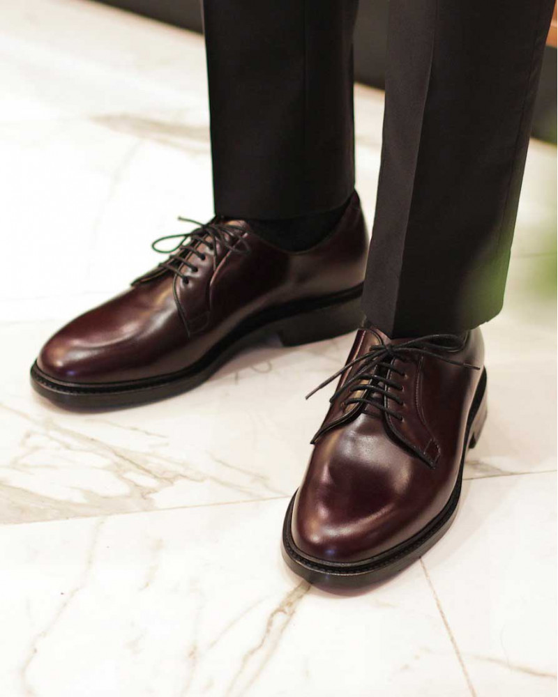 Berwick1707 for HOAX|4406 Plain Toe Derby · Cordovan Color