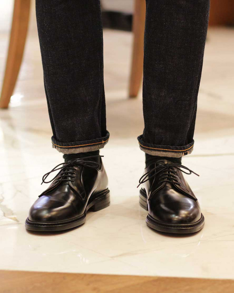 Berwick1707 for HOAX|4406 Plain Toe Derby · Black