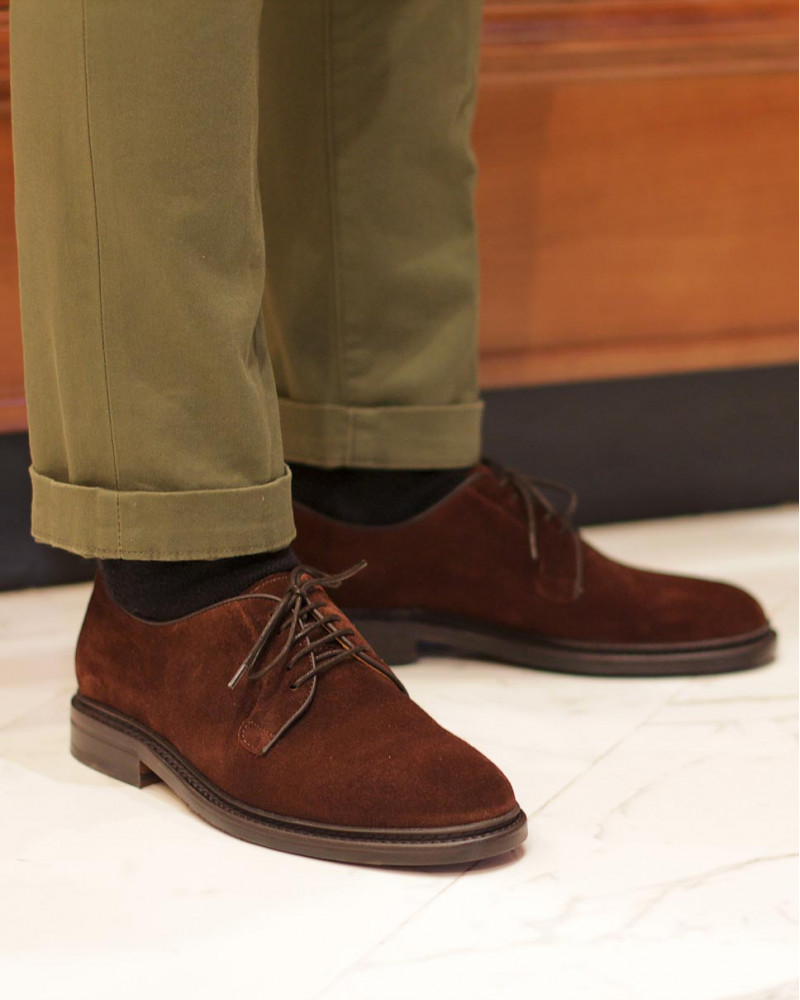 Berwick1707 for HOAX|4406 Plain Toe Derby・Snuff Suede
