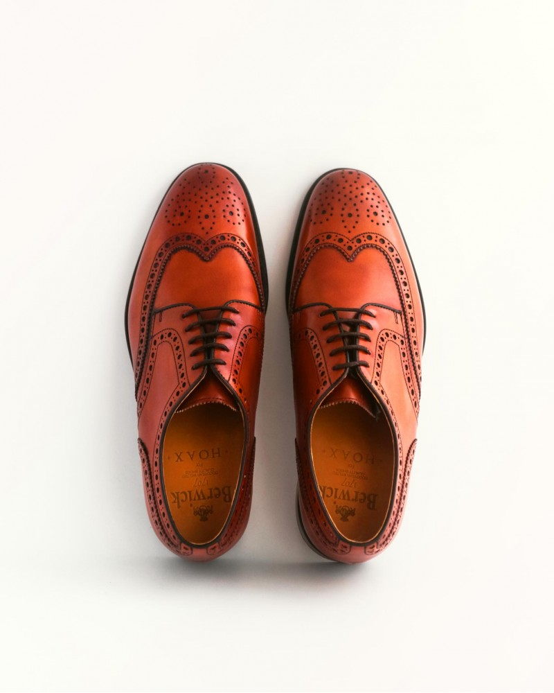 Berwick 1707 for HOAX Wingtip Derby Shoes・Brown