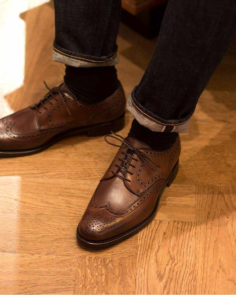 Berwick1707 for HOAX|4546 Wingtip Derby Shoes・Brown