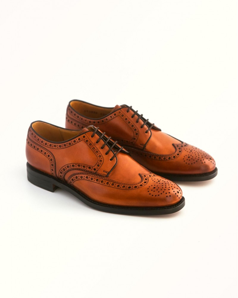 Berwick1707 for HOAX Wingtip Derby Shoes・Tan