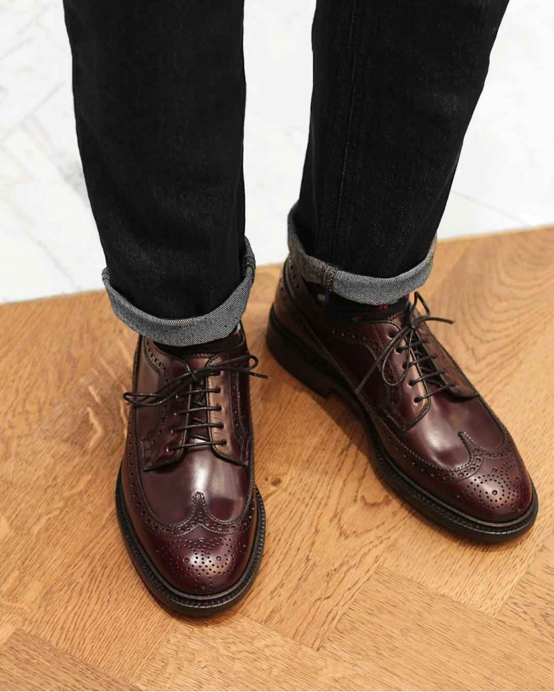Berwick1707 | 4794 Longwing Brogues Plus · Cordovan Color