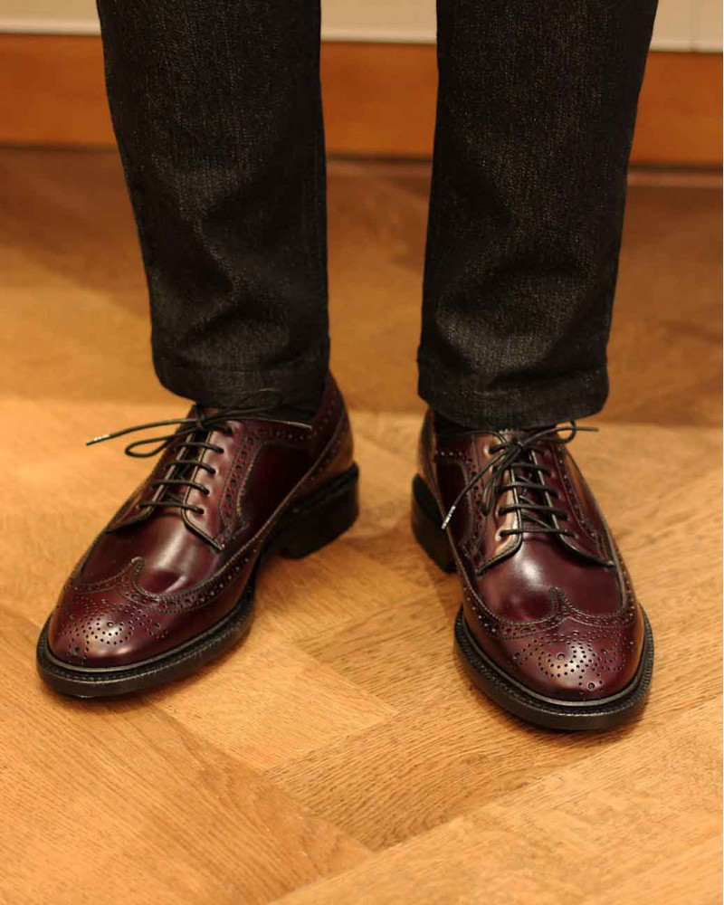 Berwick1707 for HOAX | 4794 Longwing Brogues Plus・Cordovan Color