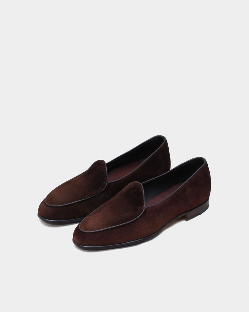 Berwick1707 for HOAX|4950 Belgian Plain Loafer・173 Suede