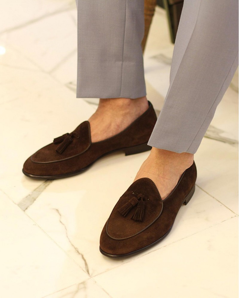 Berwick1707 for HOAX|4951 Belgian Loafers・173 Suede