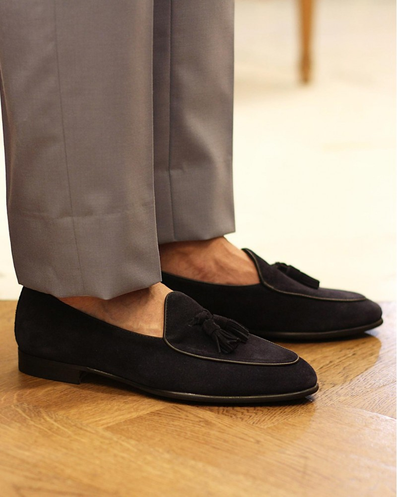 Berwick1707 for HOAX|4951 Belgian Loafers・Baltic Suede