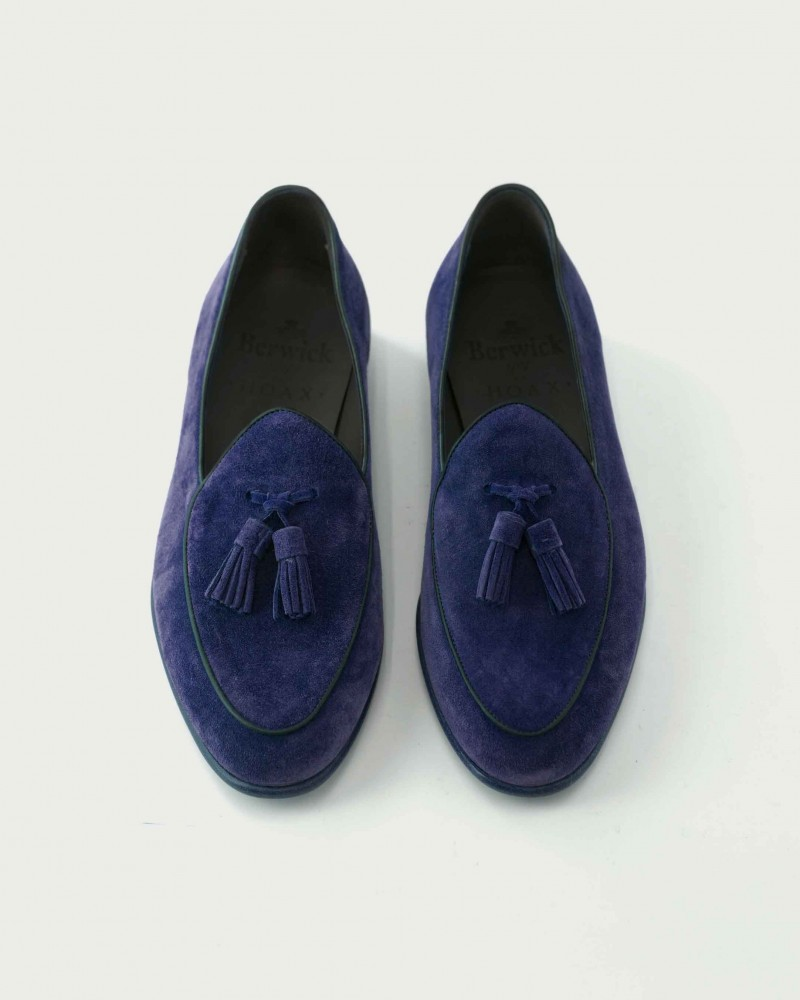 Berwick1707 for HOAX|Belgian Loafers・Bluette Suede