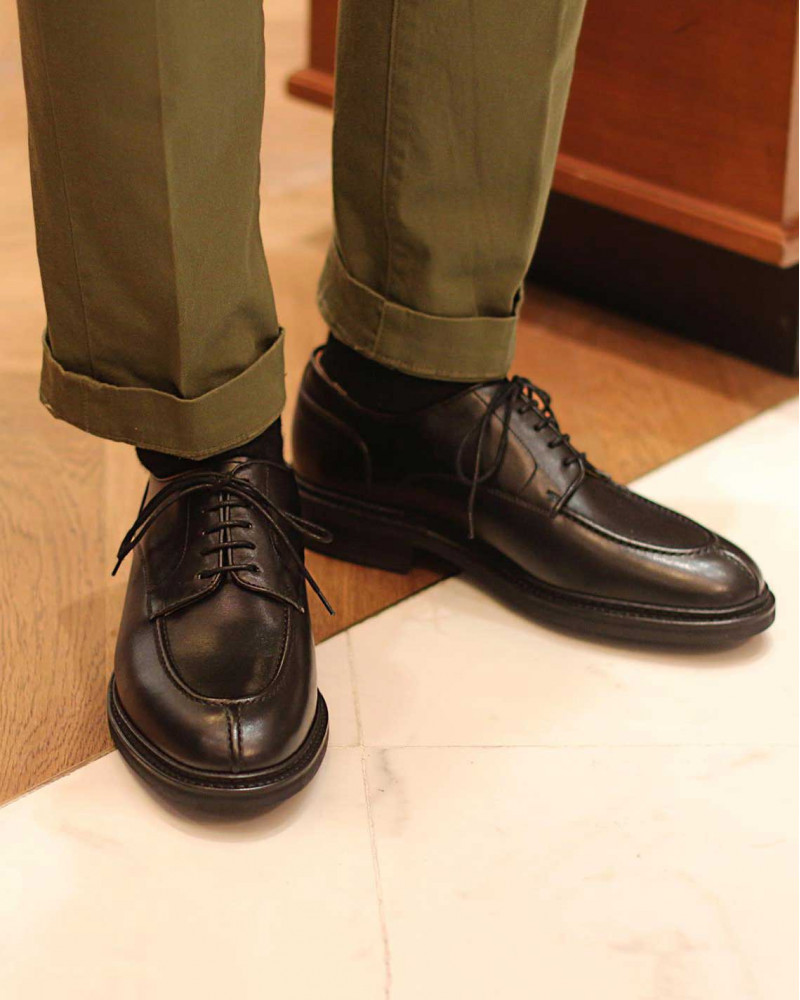 Berwick1707 Split Toe Blucher・Black