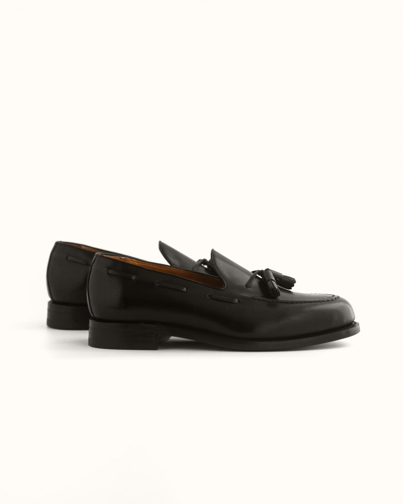 Berwick1707 for HOAX | 8491 Tassel Loafers・Black