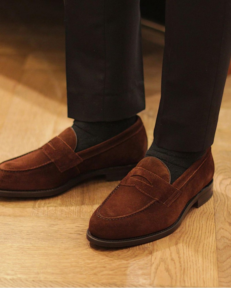 Berwick1707 for HOAX|9628 Penny Loafers・Snuff Suede