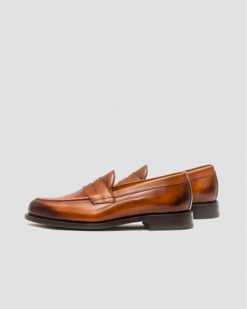 Berwick1707|9628 Penny Loafers・Tan