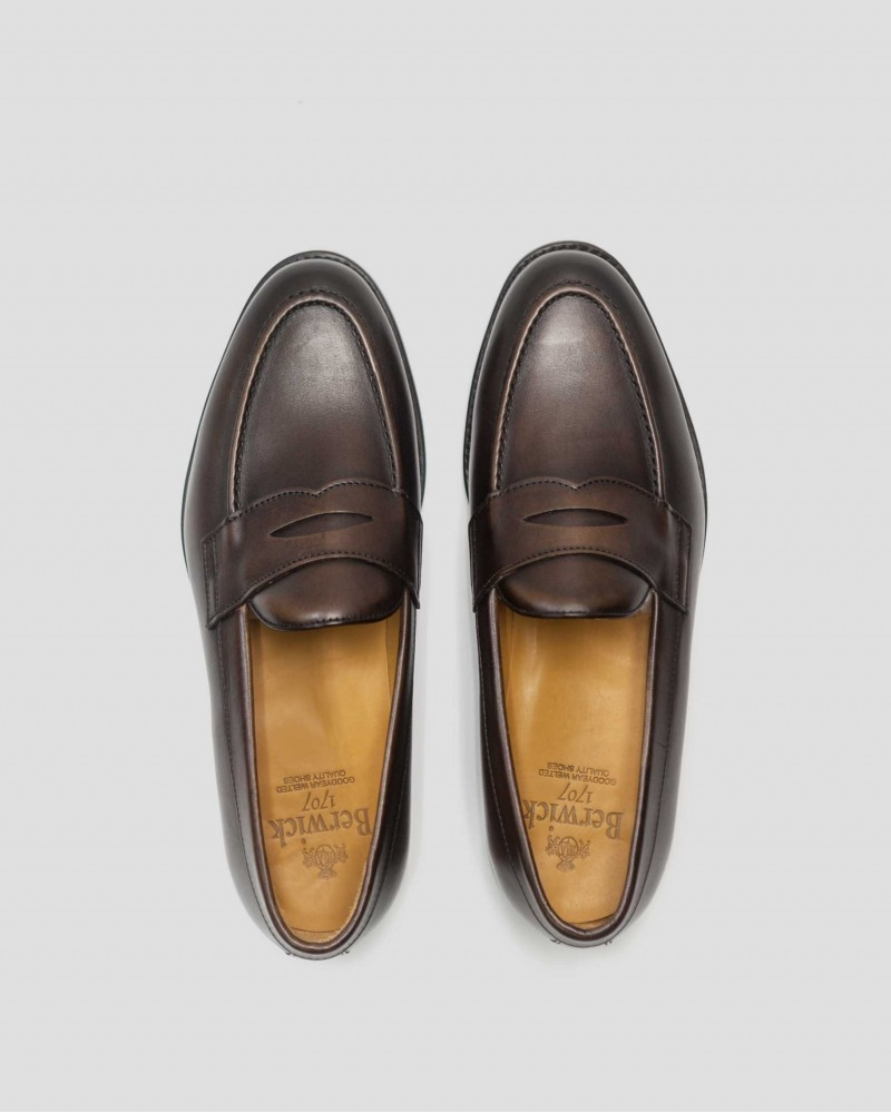 Berwick1707 for HOAX|9628 Penny Loafers・Dark Brown