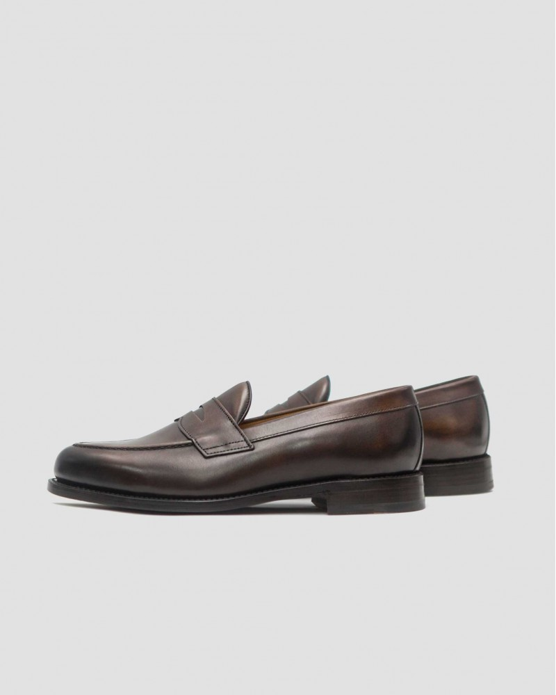 Berwick1707 for HOAX 9628 Penny Loafers・Dark Brown
