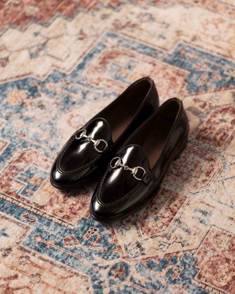 Berwick1707 for HOAX|183 Women Bit Loafers・Black