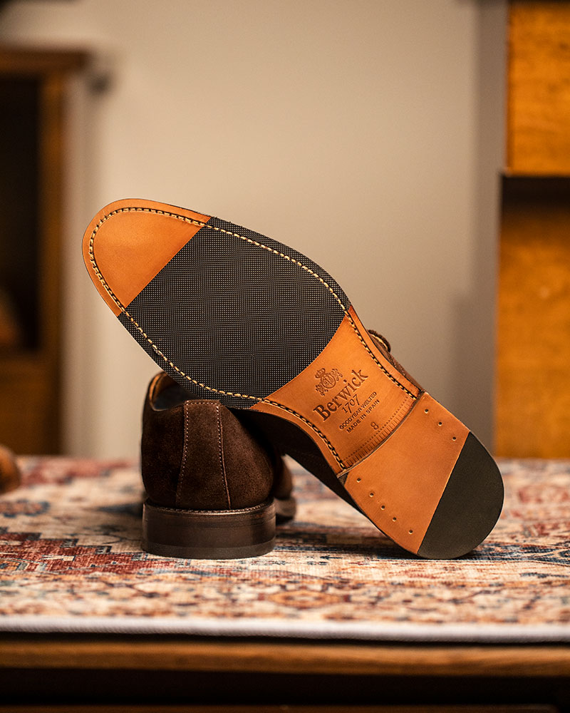 Berwick1707 for HOAX|3017 Single Monk Strap・173 Suede