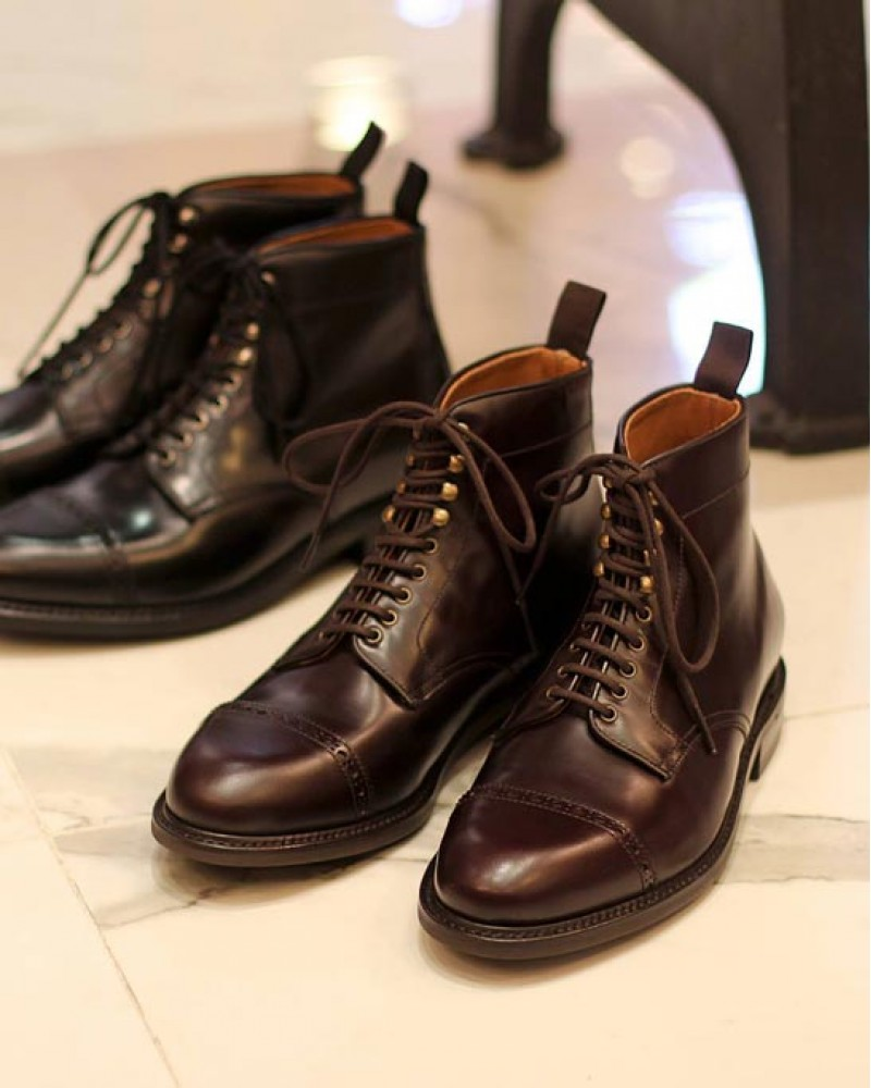Berwick1707 for HOAX|337 Ankle Jumper Boots・Cordovan Color