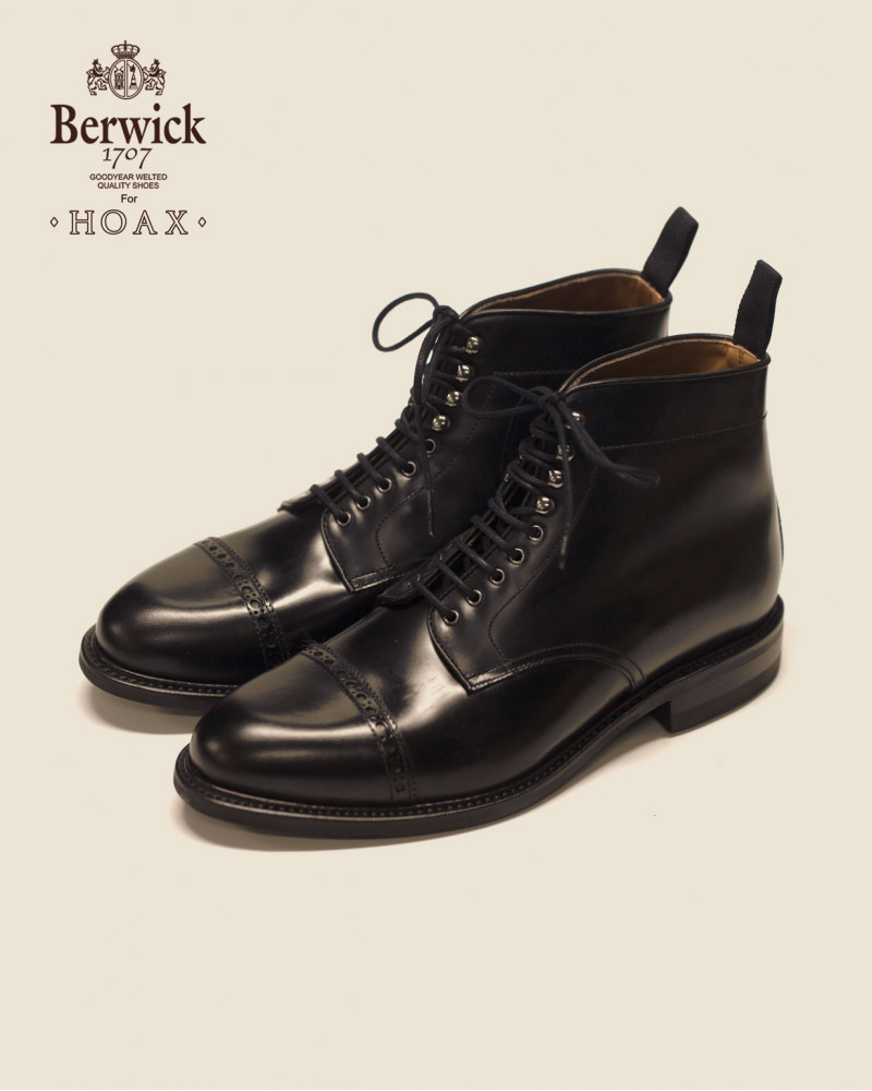 Berwick1707 for HOAX|337 Ankle Jumper Boots・Black