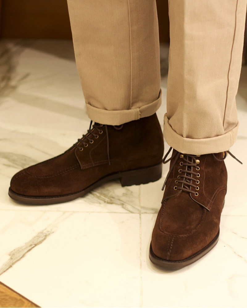 Berwick1707 for HOAX|358 NST Tanker Boots・173 Suede