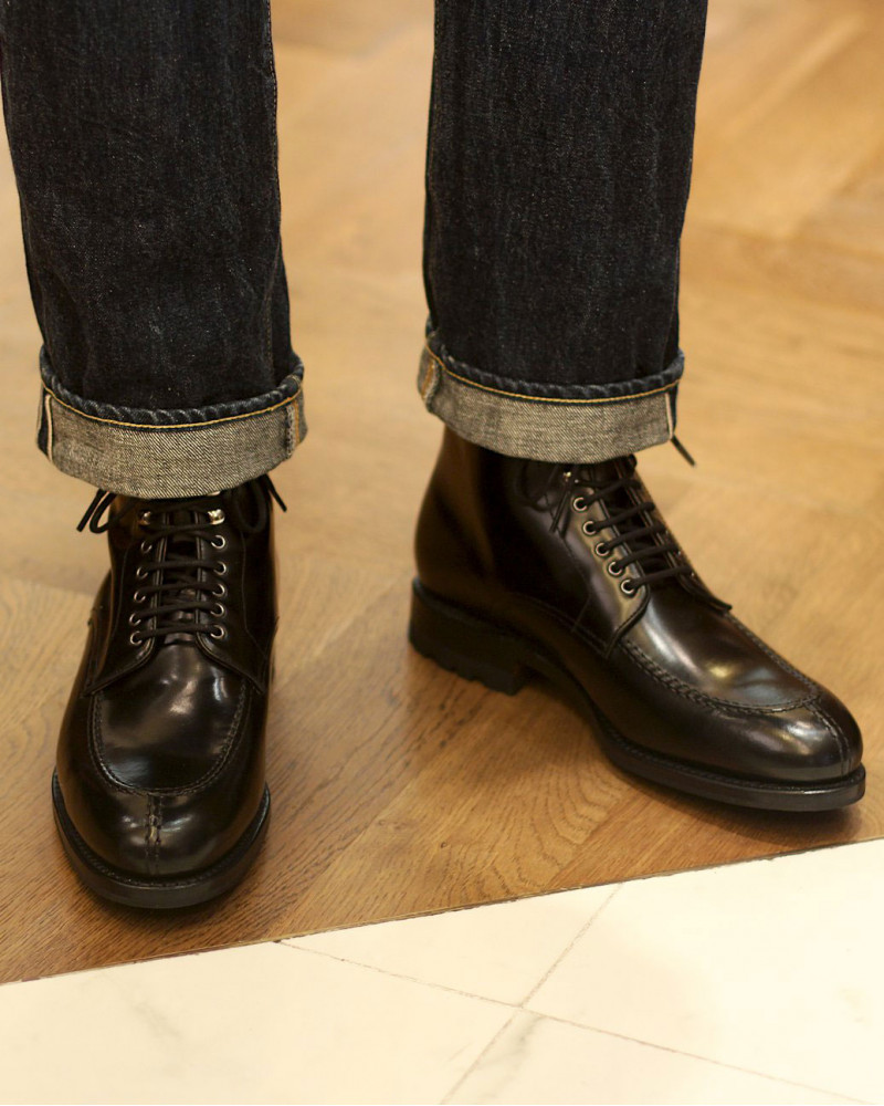 Berwick1707 for HOAX|358 NST Tanker Boots・Black