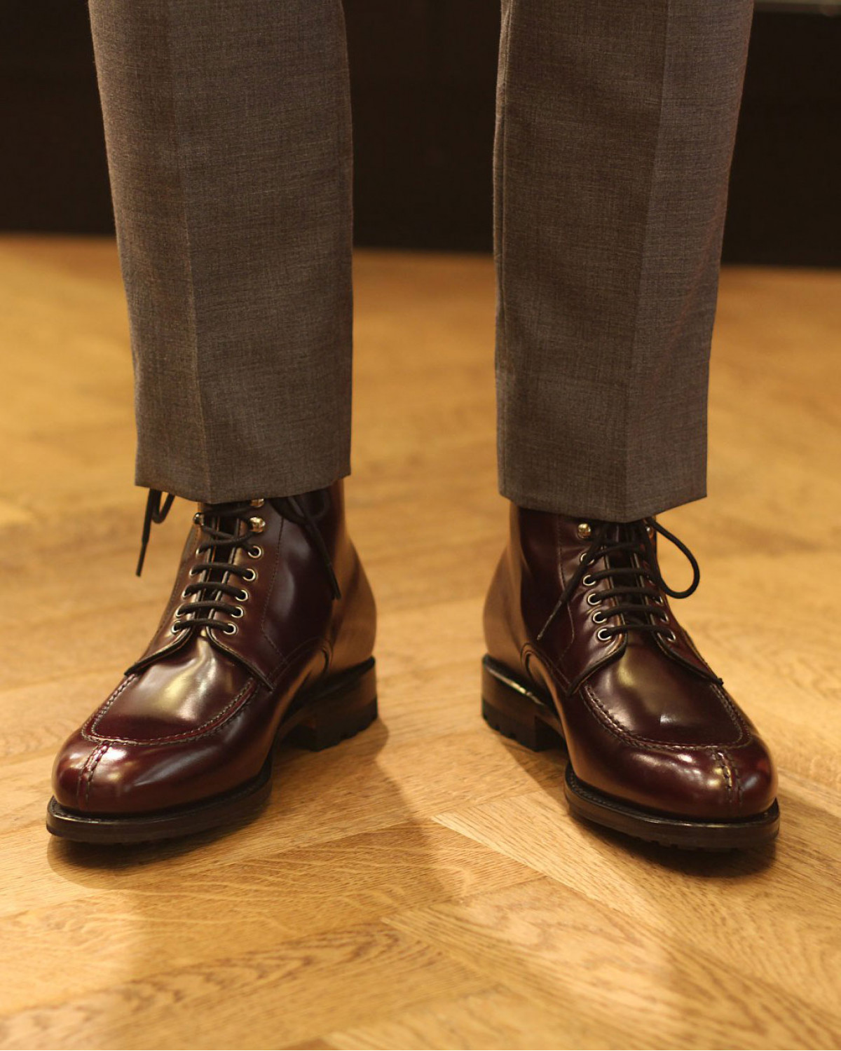 Berwick1707 for HOAX 358 NST Tanker Boots・Cordovan Color