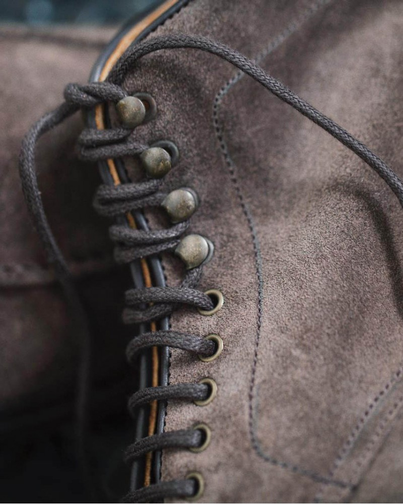 Berwick1707 for HOAX|358 NST Tanker Boots・Grey Suede
