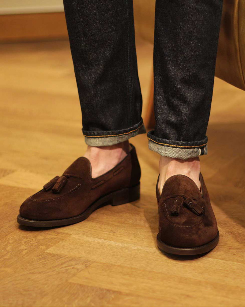 Berwick1707 for HOAX|4171 Tassel Loafers・173 Suede