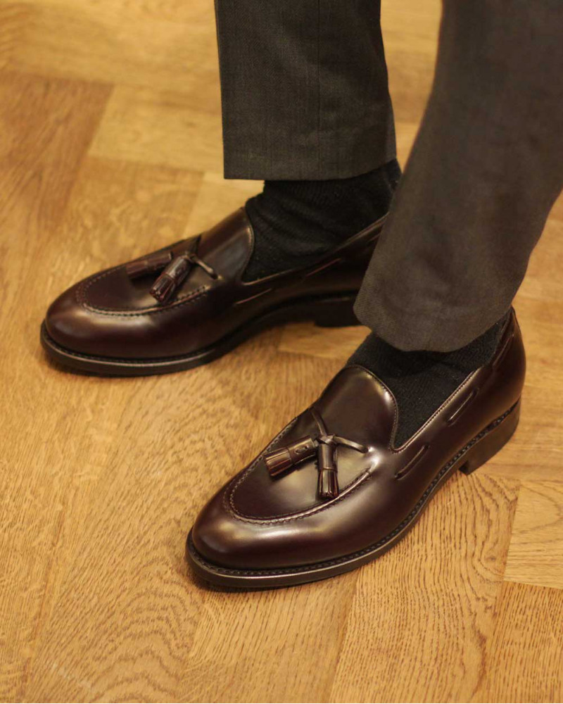 Berwick1707 for HOAX|4171 Tassel Loafers・Dark Brown