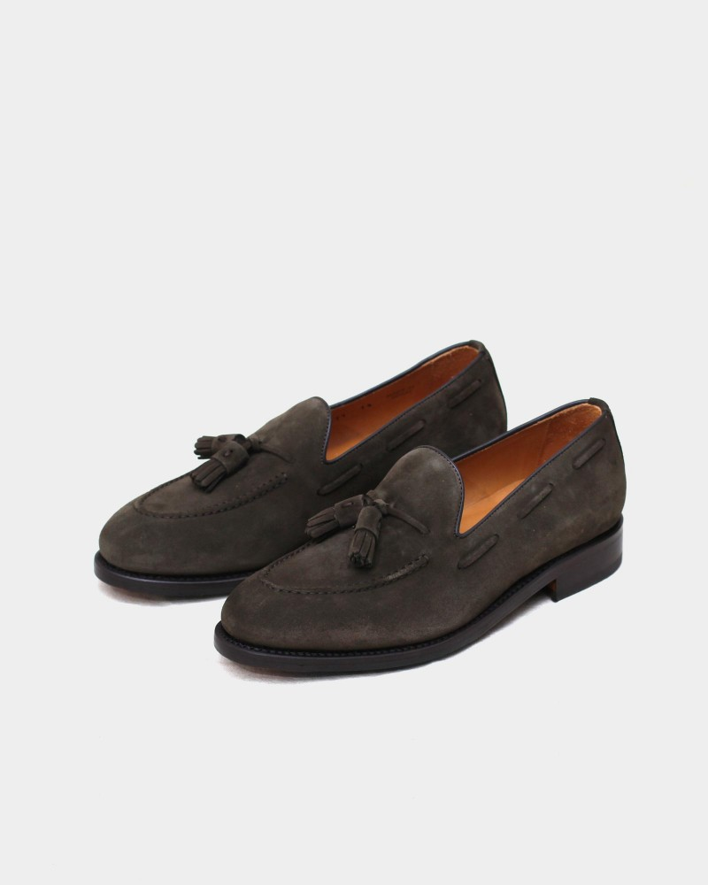 Berwick1707 for HOAX|4171 Tassel Loafers・Moorland Suede
