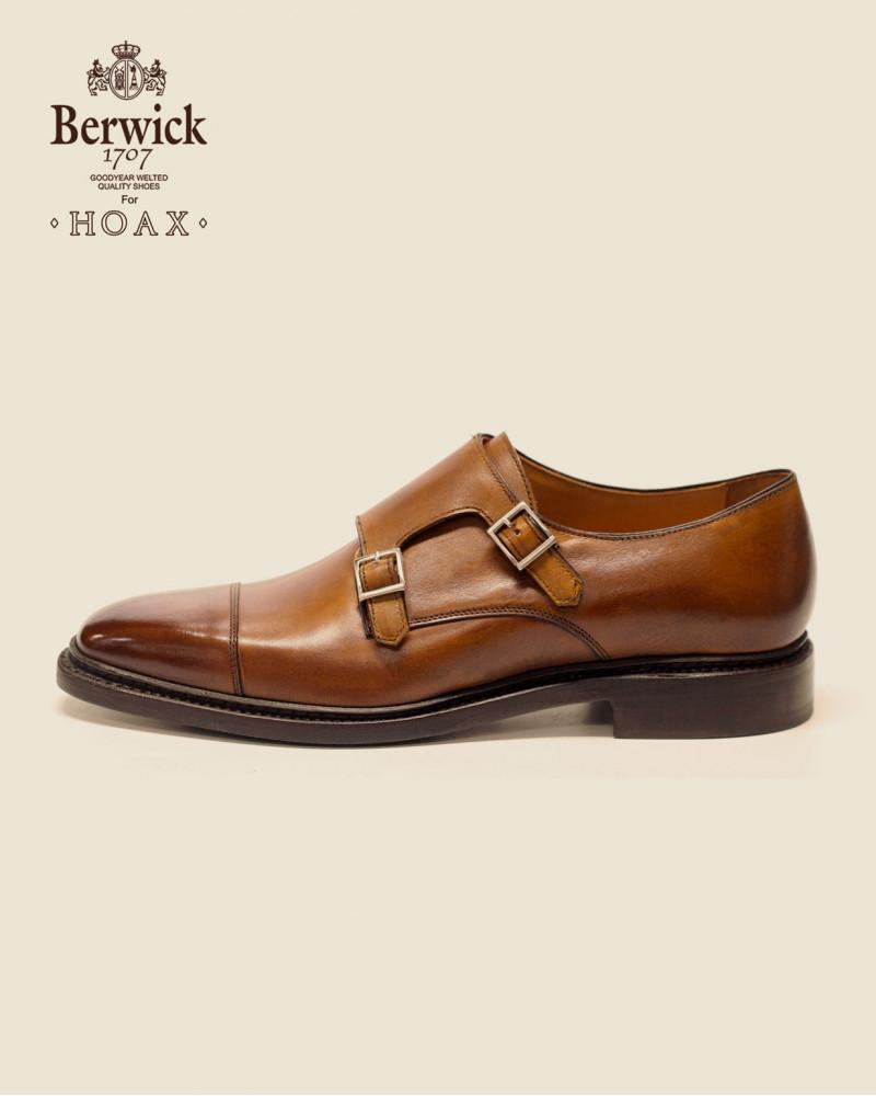 Berwick1707 for HOAX 4474 Double Monk Strap・Tan
