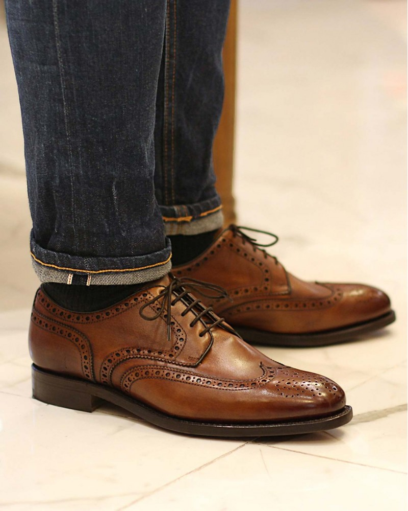 Berwick1707 for HOAX|4546 Wingtip Derby Shoes・Tan