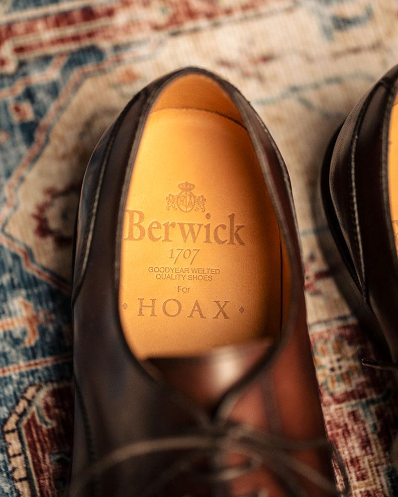 Berwick1707 for HOAX|4558 U-Tip Split Toe Derby・Dark Brown