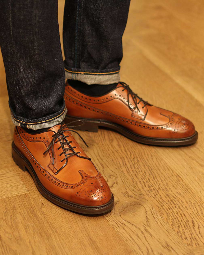 Berwick1707 for HOAX|4794 Longwing Brogues Plus with Commando Sole・Tan