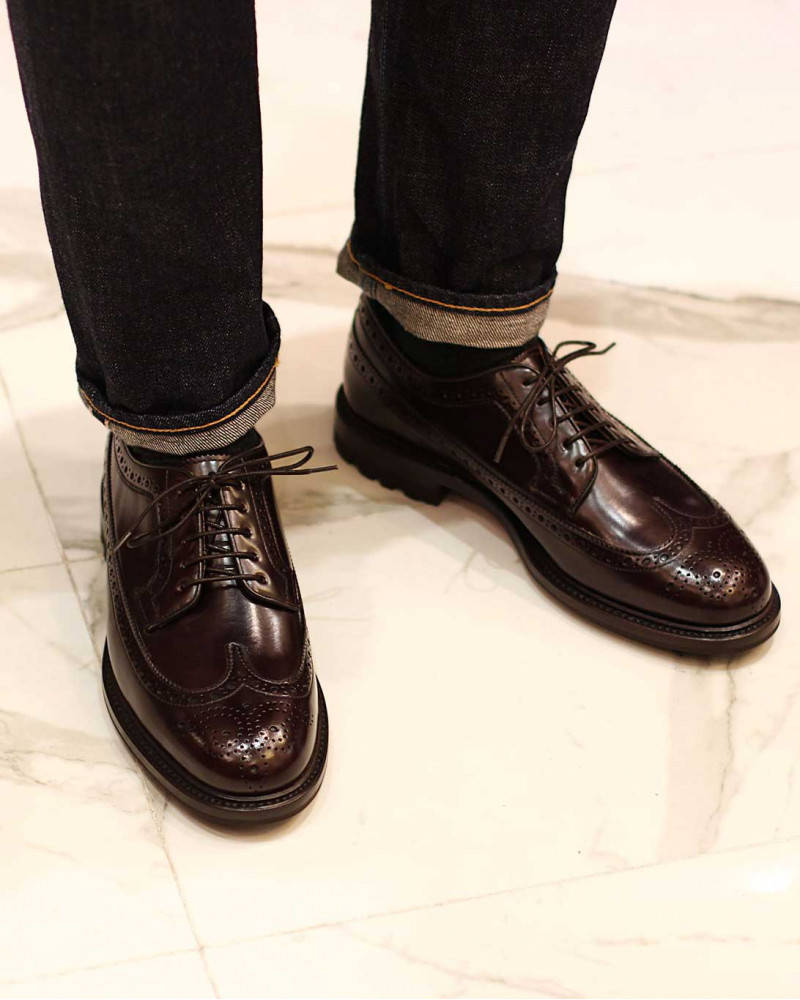 Berwick1707 for HOAX|4794 Longwing Brogues Plus with Commando Sole・Cordovan Color