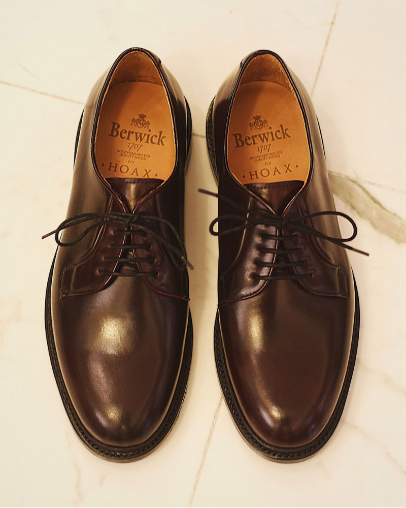 Berwick1707 for HOAX|4406 Cordovan Plain Toe Derby・Color 8