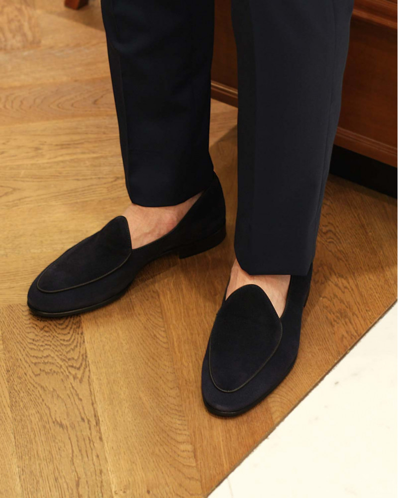 Berwick1707 for HOAX|4950 Belgian Plain Loafer・Baltic Suede