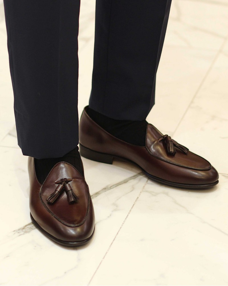 Berwick1707 for HOAX|4951 Belgian Loafers・Moka
