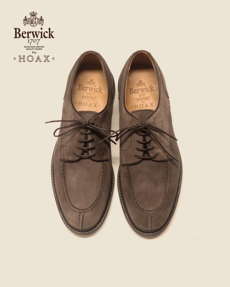 Berwick1707 for HOAX|4958 NST Blucher · Grey Suede