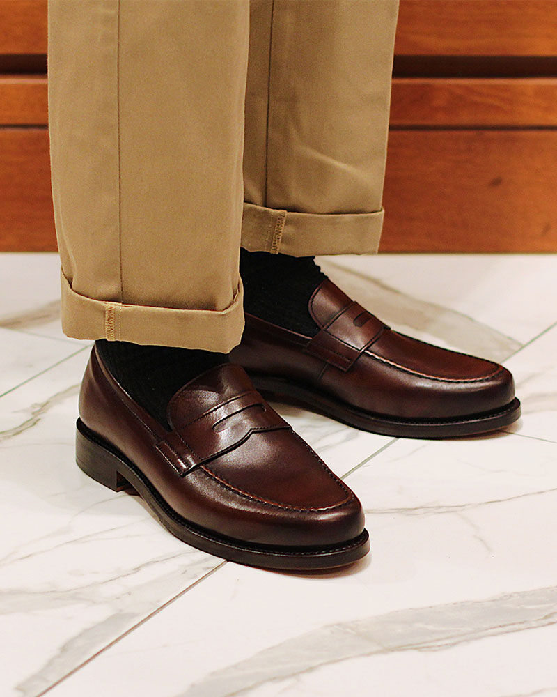 Berwick1707 for HOAX|4962 Penny Loafers・Dark Brown