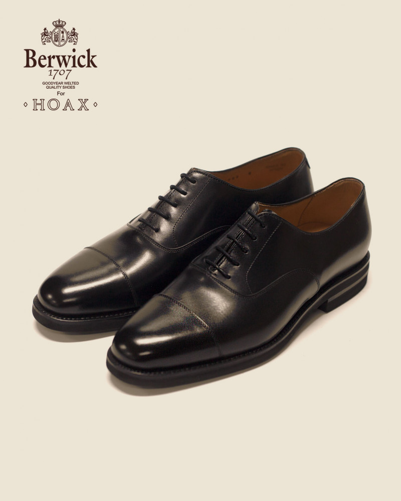 Berwick1707 for HOAX|4983 Captoe Oxford w/ XL EXTRALIGHT® Sole・Black