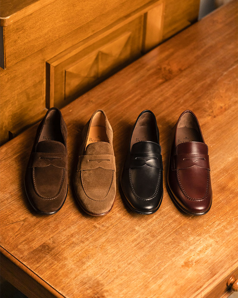 Berwick1707 for HOAX|5062 Lightweight Penny Loafers・Noce Suede