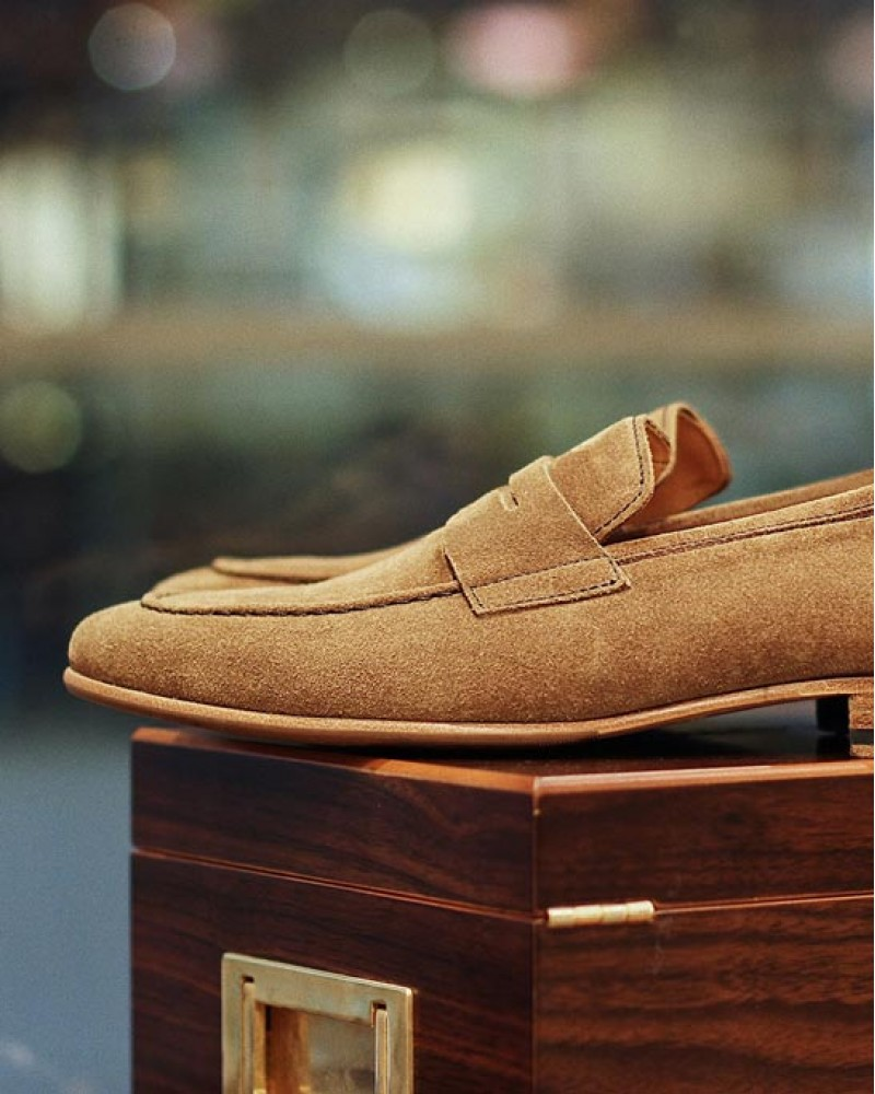 Berwick1707 for HOAX|5062 Unlined Loafers・Noce Suede