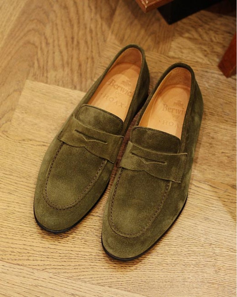 Berwick1707 for HOAX|5062 Unlined Loafers・Giungla Suede