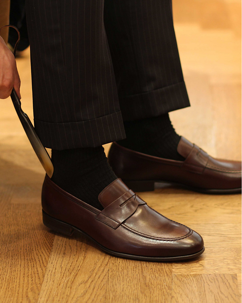 Berwick1707 for HOAX|5062 Lightweight Penny Loafers・Moka