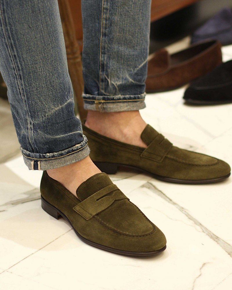 Berwick1707 for HOAX|5062 Lightweight Penny Loafers・Giungla Suede