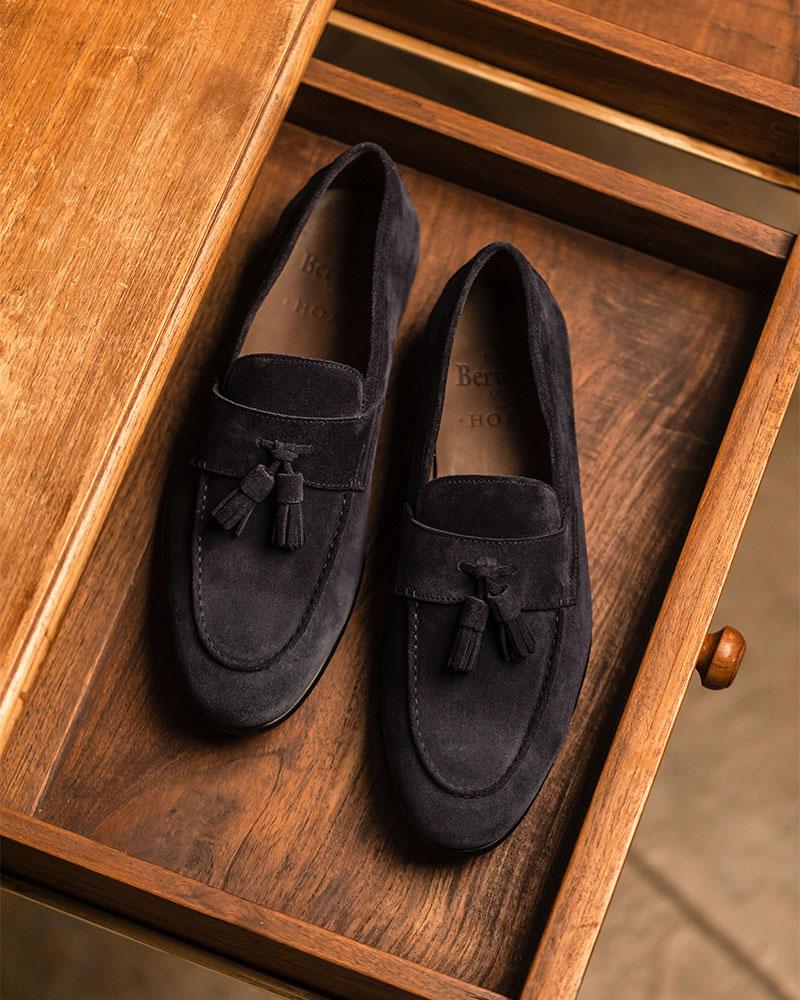 Berwick1707 for HOAX|5094 Lightweight Tassel Loafers・Baltic