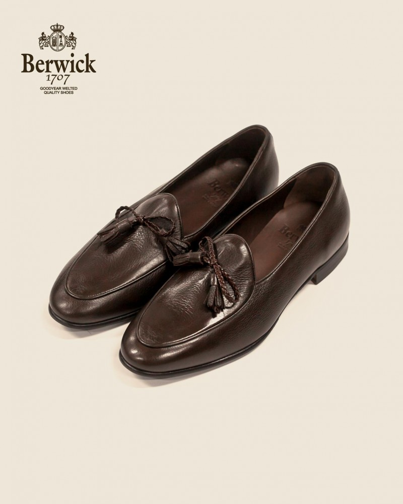 Berwick1707|5154 Ribbon Tassel Loafer・Marrone