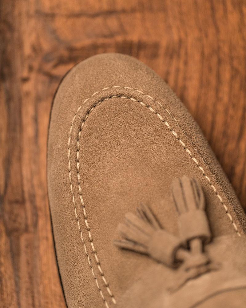Berwick1707 for HOAX|5206 Lightweight Tassel Loafers・Smoke